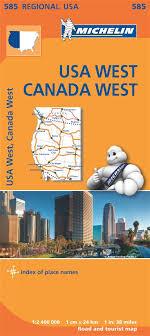 map usa west usa west map michelin regional map michelin 9782067184701