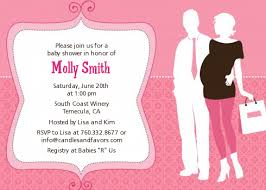 baby shower for couples silhouette it s a girl baby shower invitations candles