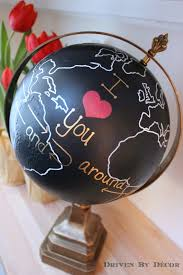 Valentine S Day Decorations Auckland by Upcycled Globe I Love You Around The World And Back Again