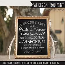 wedding wishes adventure list sign wedding wish sign printable sign suggestions for