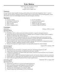 security guard resume resume for security security guard resume format luxury security