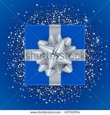 silver boxes with bows on top new year christmas blue gift box stock vector 457316764