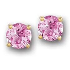 s birthstone earrings birthstone stud earrings october pink tourmaline the danbury mint