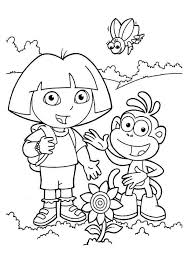 dora coloring pages cutecoloring kidtastic