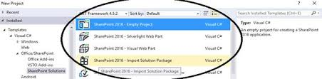 sharepoint 2010 2013 and 2016 project templates in visual studio