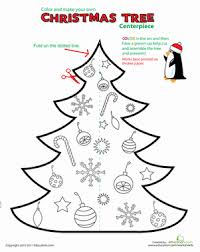 printable christmas decorations table centerpiece worksheet