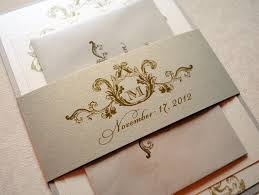 Single Card Wedding Invitations Ivory Champagne And Gold Wedding Invitations Elegant Wedding