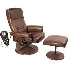 relaxzen comfort soft reclining massage chair and ottoman dark