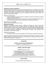 hotel chief engineer sample resume 22