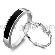 black diamond promise ring custom engravable diamond promise rings for couples set of two