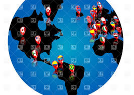 World Map Pins by Abstract Globe With Map Pins Vector Image 25717 U2013 Rfclipart