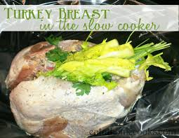 turkey breast in the cooker eat at home