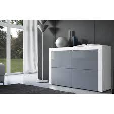 commode chambre blanc laqué commode laquée blanche et grise achat vente commode de chambre