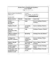 asset identification worksheet asset identification worksheet