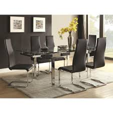 Modern Dining Rooms Sets Coaster Modern Dining Contemporary Dining Room Set With Glass