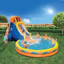 kids slide water inflatable pool splash park bounce outdoor