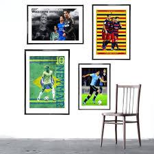 wall ideas football wall art decor hd print 5 pcs fc barcelona