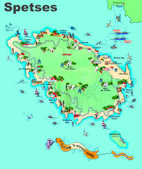 Map Greece by Spetses Maps Greece Maps Of Spetses Island