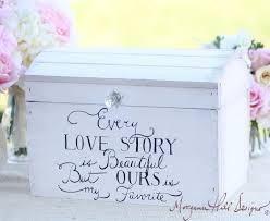 wedding keepsake quotes wedding card box shabby chic decor vintage by braggingbags on etsy