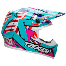 design your own motocross helmet bell moto 9 tagger trouble blue red white motocross helmet motox