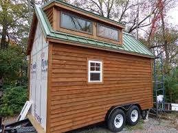 What Is A Tiny Home by Lh Growing A Tiny House On Wheels Bow Wall Siding Goes Up Lickety