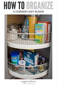 how to organize a lazy susan cabinet does your cabinet lazy susan got you spinning see how easy