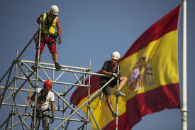 The Spain Flag Spanish Workers Migrate North University Of Bergen