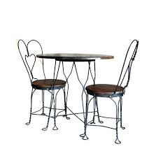 ice cream parlor table and chairs set wrought iron table and chairs sets antique ice cream parlor table