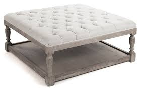 blue tufted ottoman coffee table eva furniture