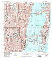 florida topo map image of the 1988 miami florida 7 5 minute series quadrangle 1