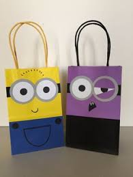 minion gift bags minion goodie bags so proud of myself party themes and ideas
