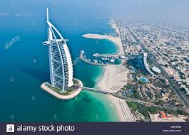 worlds only 7 star hotel in dubai uae called the burj al arab from