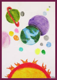 simple landscape scenery drawing for kids with oil pastel