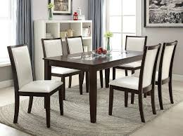 Espresso Dining Set Glass Insert Espresso Dining Table Set
