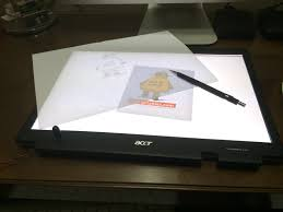 Drafting Table Light Box Turn A Broken Laptop Screen Into A Portable Light Table For