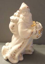 lenox china jewels country santa holiday porcelain figurine rare