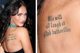 megan fox pictures megan fox tattoos and their meanings