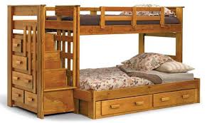 Wooden Bunk Beds With Mattresses Stunning Wooden Bunk Beds With Stairs Or Ladder With Desk With