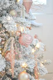 blush pink and white flocked vintage inspired tree by