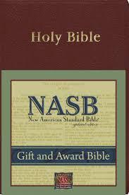 gift bibles new american standard gift award bible burgundy imitation