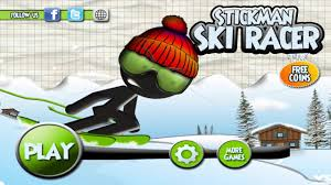 stickman ski racer winter is coming android gameplay for kids
