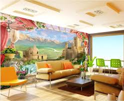 popular castle wall mural buy cheap castle wall mural lots from custom mural 3d wallpaper balcony mountain castle photo wall paper decor painting 3d wall murals wallpaper