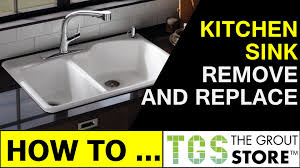 How To Measure For Kitchen Sink by How To Remove And Replace A Kitchen Sink Youtube