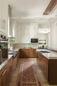 white cabinets brown lower cabinets in kitchen 25 edgy two tone kitchen designs you ll shelterness