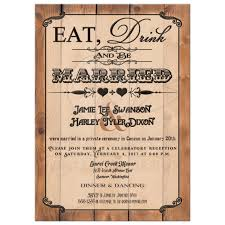 post wedding reception invitation wording post wedding reception only invitation eat drink and be married