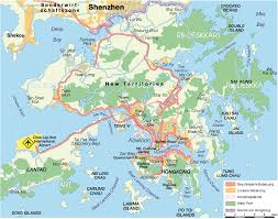 Map Of International Airports Map Of Hong Kong China Map In The Atlas Of The World World Atlas