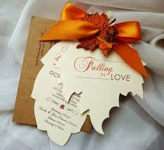 fall wedding invitations falling in cut autumn leaf wedding invitation sle