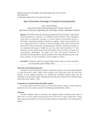 role of information technology in transaction processing system
