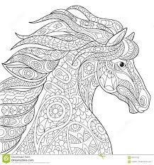 zentangle stylized horse stock vector image 69797158
