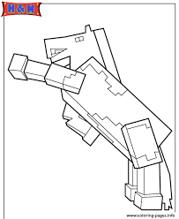 minecraft horse coloring pages printable